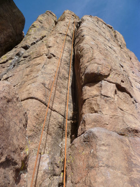 The climb, showing the crack.