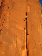 Rock Climbing Photo: A very dusty offwidth at sunset