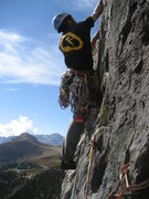 Rock Climbing Photo: On the Micheluzzi rout before the big traverse.