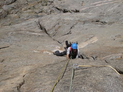 "Rock Climbing Photo: Thrashing my way up ""Scenic Cruse"" North..."