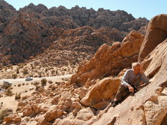 Rock Climbing Photo: Fred maximizing a crucial no-hands, no-feet rest m...