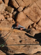 Rock Climbing Photo: Fred gives his approval as he finishes P2