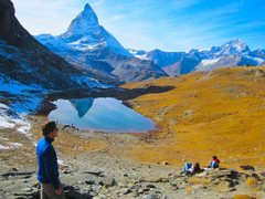 The Riffelsee and the Matterhorn.