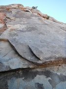 Rock Climbing Photo: the bulletproof slab of Out of the Blue 5.11a