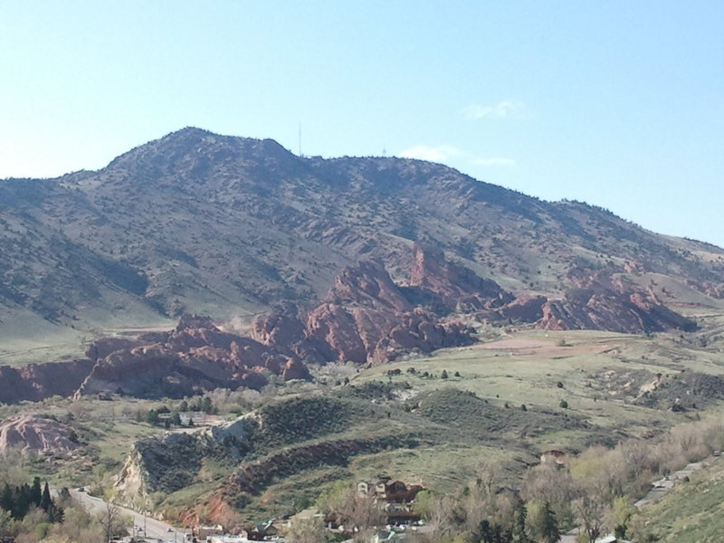 Rock Climbing Photo: View of Red Rocks from The Dark Side at Morrison