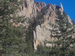 Rock Climbing Photo: Shirt tail peak and potato chip