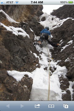 Rock Climbing Photo: Noah McKelvin on 2nd pitch, photo by Eric Wellborn...