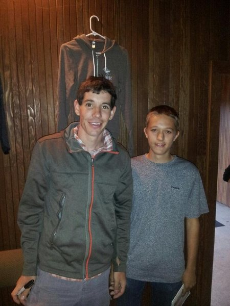 Rock Climbing Photo: Alex Honnold and I at the Reel Rock Tour 2012