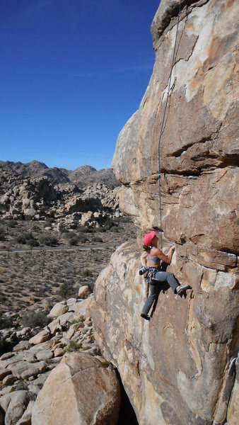 Adrienne Kentner climbing Elixer 5.10b