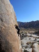 Rock Climbing Photo: Adrienne Kentner getting slabby on Val de Mello 5....