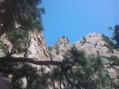 Rock Climbing Photo: center is lumpe tower