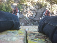 Rock Climbing Photo: On top of Breashears II at the Dark Side