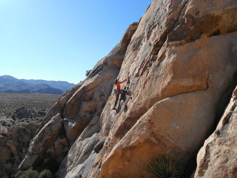 Susan Peplow leading George's Route 5.8