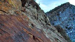 Rock Climbing Photo: Near the top of Nautilus.