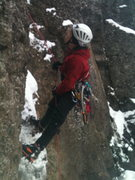 Rock Climbing Photo: Simul-rapping the first step of the first pitch. T...