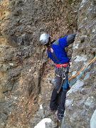 Rock Climbing Photo: Eric Wright starting 2nd pitch.