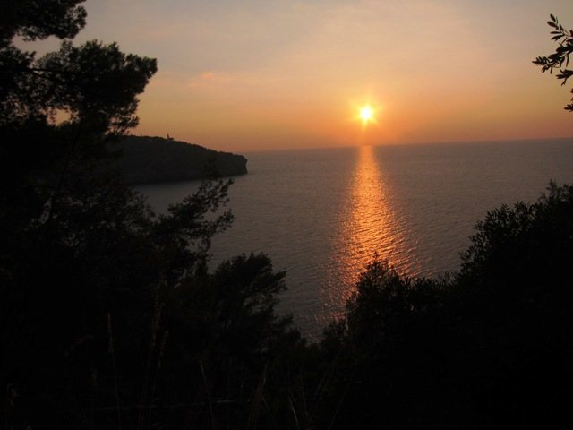 Rock Climbing Photo: Sunset from the climbing area of Port de Sóller