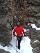 Rock Climbing Photo: Garrett starting pitch 3.