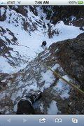 Rock Climbing Photo: Eric Wellborn's boot and Noah McKelvin belaying pi...
