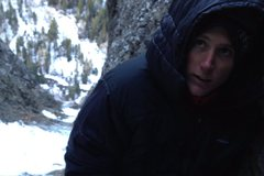 Rock Climbing Photo: Top of pitch 6. Garrett warm, happy, and getting c...