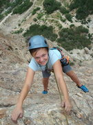 Rock Climbing Photo: Taisha pulling the last couple of moves - A huge t...