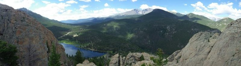 Rock Climbing Photo: View from the top. Looking out at Long's Peak.