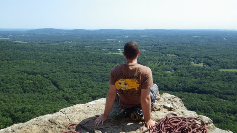 Rock Climbing Photo: The view from GT Ledge in the Gunks