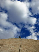Rock Climbing Photo: Sean takes off on P2. Walk on the Wild Side.   Pho...