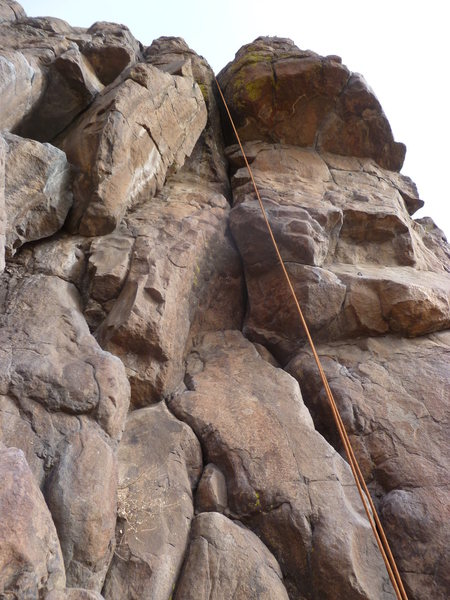 Rock Climbing Photo: The route is the crack in the center.