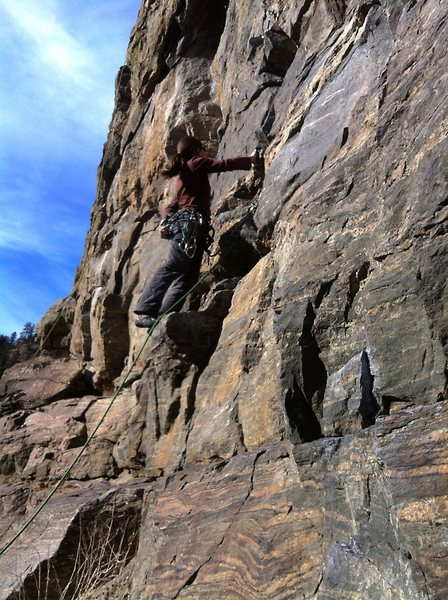 Rock Climbing Photo: The low portion of this route.