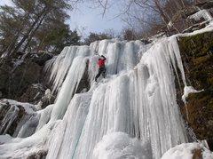 Rock Climbing Photo: Ryan Barber leading
