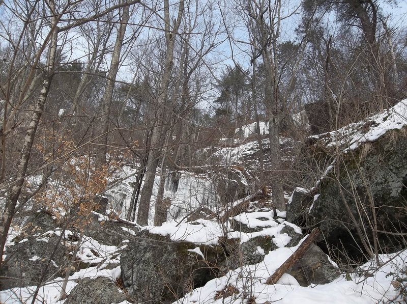 Rock Climbing Photo: Left or western section at G Spot. Easiest access ...