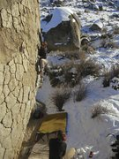 Rock Climbing Photo: Calgarian (now that is a drive) climber making his...