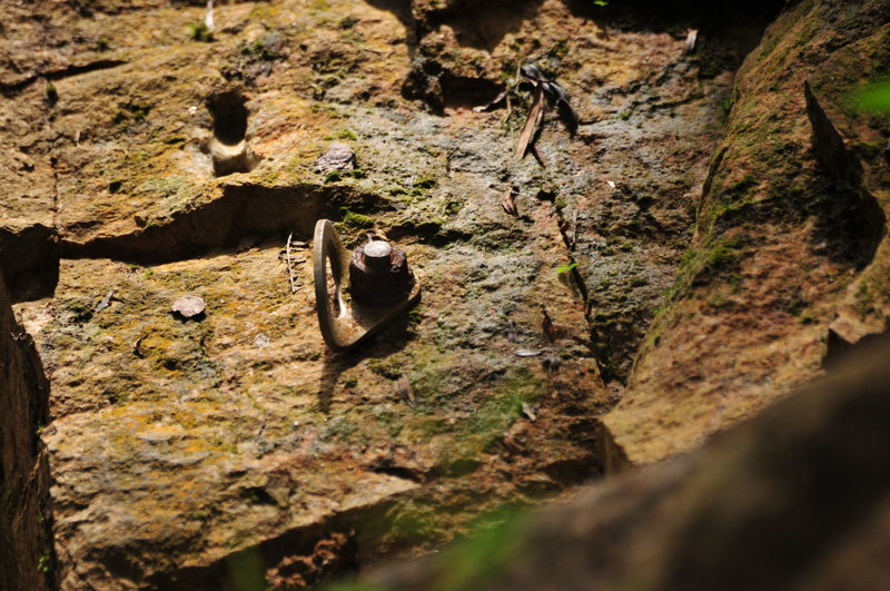 Rock Climbing Photo: Bad corrosion on some of the bolts. CLIMBER BEWARE...