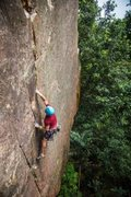Rock Climbing Photo: Karsten Delap onsighting Supercrack. It was dry an...