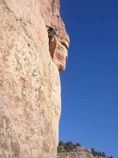 Rock Climbing Photo: Dave through the crux of Are You Experiential?