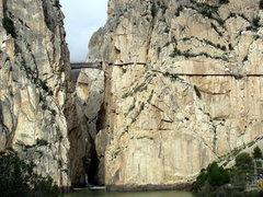 Rock Climbing Photo: The famed El Camino del Rey in El Chorro, Spain