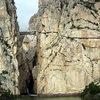 The famed El Camino del Rey in El Chorro, Spain