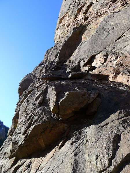 Rock Climbing Photo: Pseudo Sidetrack start.