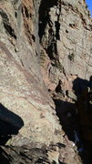 Rock Climbing Photo: Looking down the Pseudo Sidetrack ramp.