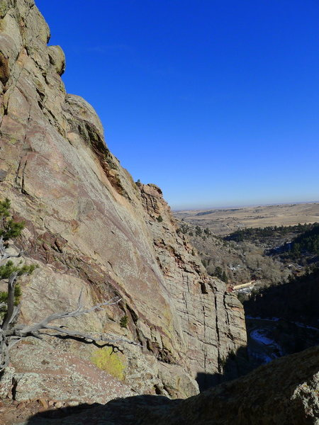 Rock Climbing Photo: Looking back toward the park entrance.