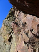 Rock Climbing Photo: The scariest part: the choss traverse.