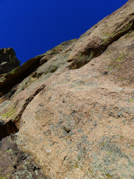 Rock Climbing Photo: One of the right-trending finger cracks.