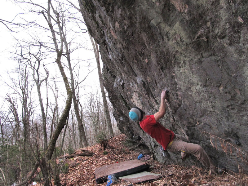 """Rock Climbing Photo: Aaron James Parlier on the FA & start to """"Str..."""