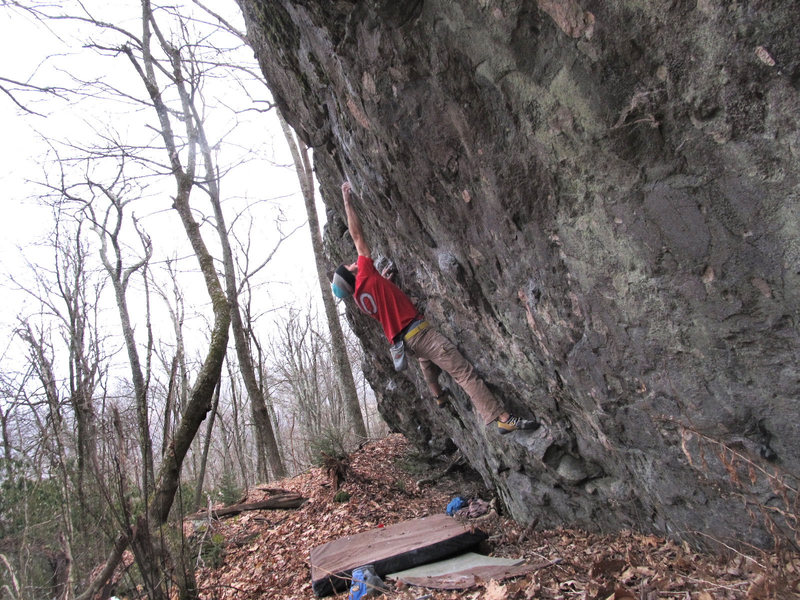 "Rock Climbing Photo: Aaron James Parlier on the FA of ""String Theo..."
