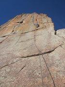 Rock Climbing Photo: Matt cruxin' on the FA.