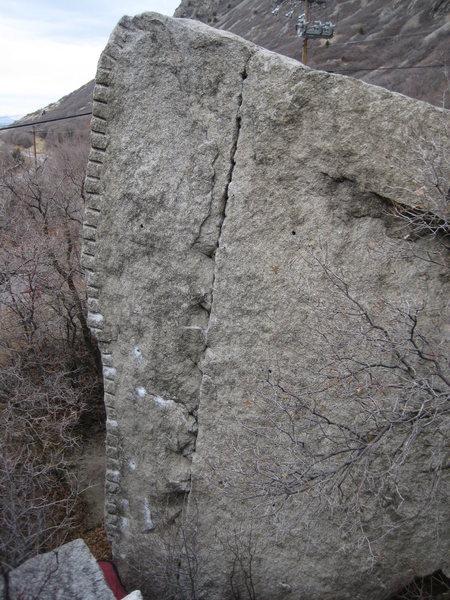 Rock Climbing Photo: Shothole Number One V2 R
