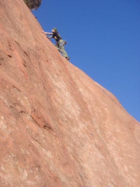 Rock Climbing Photo: Logan Berndt leading Smear Campaign.