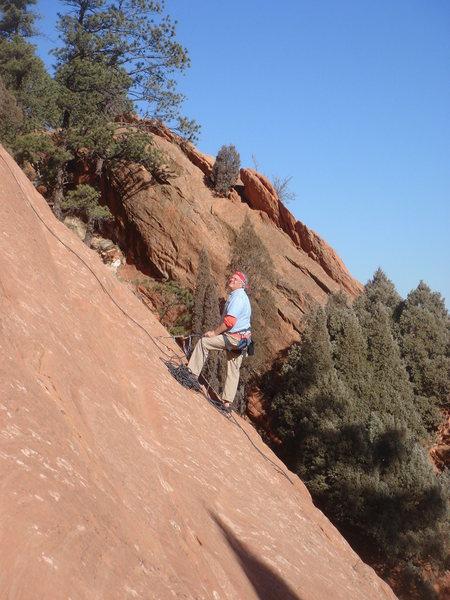 Rock Climbing Photo: Stewart Green belaying.