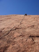 Rock Climbing Photo: James leading Green².